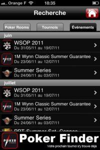 appli gratuite Poker Finder
