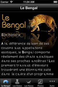 Application Bengal (Chat) sur iPhone