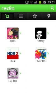 appli radio sur android
