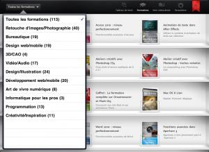 Application video2brain sur iPad