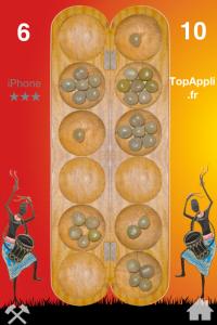 Awalé jeu sur iPhone