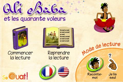 Application Ali Baba et les Quarante Voleurs sur iPad