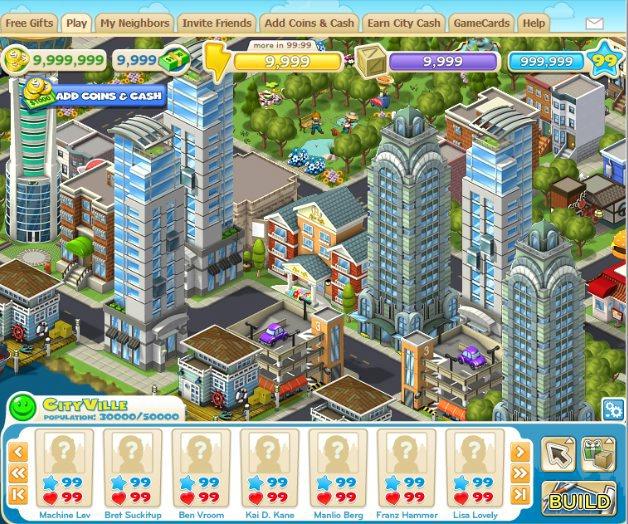 Facebook Games CityVille