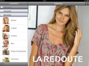 Application la Redoute sur iPad