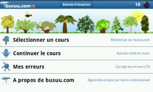 Apprends l'anglais avec busuu