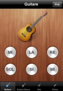 Accordez votre Guitare iphone 4