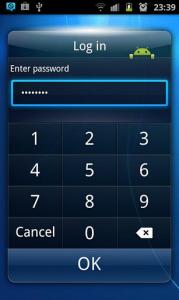 Application Secret Box sur Android