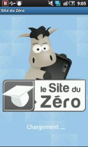 application android site du zero