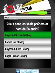 PlayQuiz Cinéma iphone