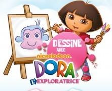 Application Dessine avec Dora sur iPad