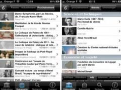 Application Commémorations Nationales 2012 sur iPad