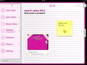 Application My Secret Diary sur iPad