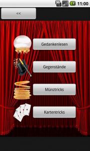 Application Tours de magie sur Android