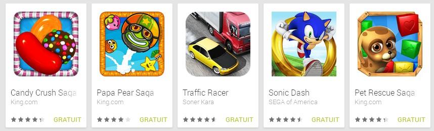 Jeux android gratuits