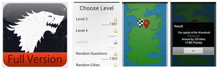 GoT Map Game
