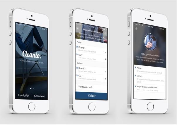 la première application iPhone de pressing à la demande