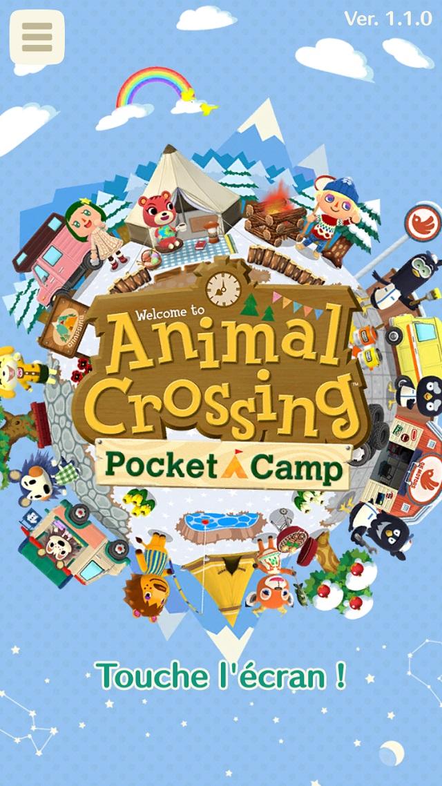 Animal Crossing Pocket Camp Noel habillage