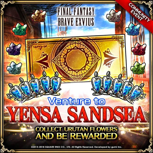 Final Fantasy Brave Exvius FFBE MAJ Mer d''Yensa choix des développeurs