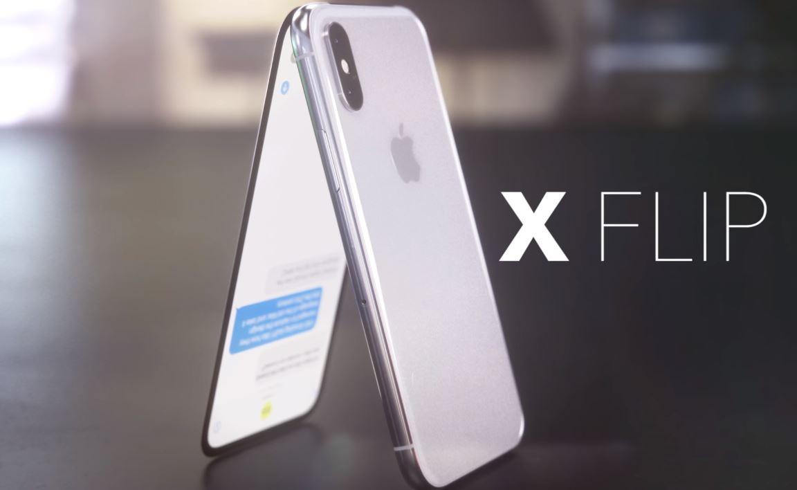 iPhone X Flip smartphone à clapet concept