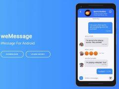 WeMessage vous permet d'obtenir des messages iMessages sur votre Smartphone Android