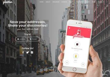 Glintter réseau social des restaurants
