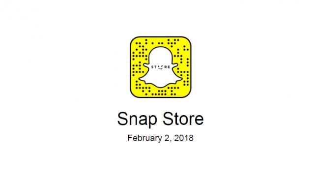 Snapchat - l'arrivée d'un store