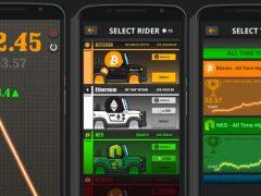 Crypto Rider jouez sur la courbe du Bitcoin et des Cryptomonnaies