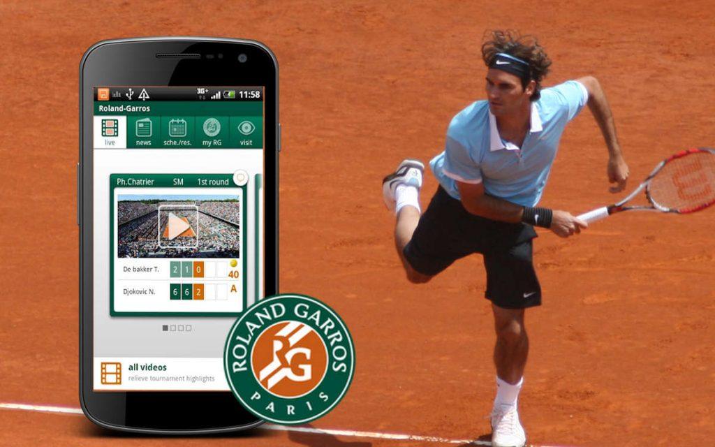 Roland Garros application mobile